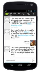 Caps Mobile Club Text Messaging