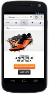 Nike Mobile Landing Page