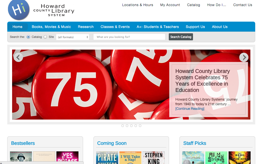 Howard County Library launches redesigned website with help from Thorn Technologies