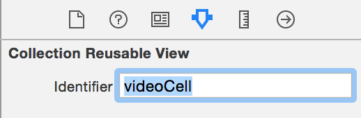 set identifier to videoCell