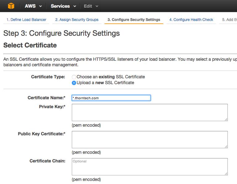 Adding SSL Certificate to AWS