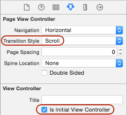 set scroll and initial view controller