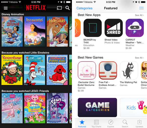 netflix and the app store