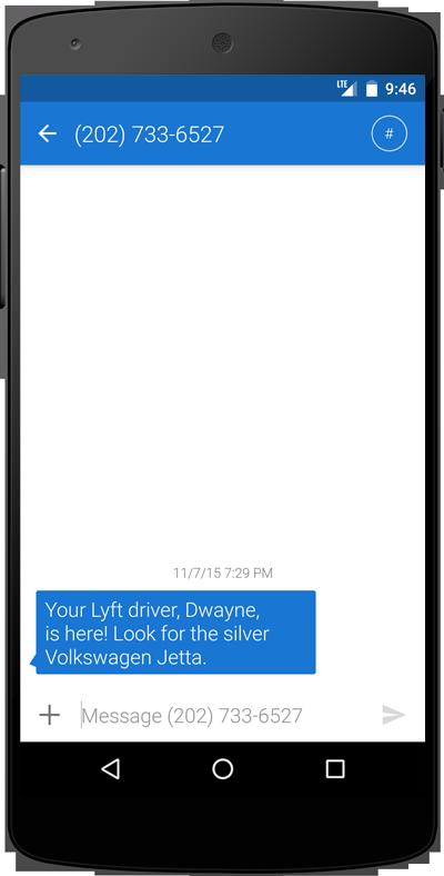 lyft text message
