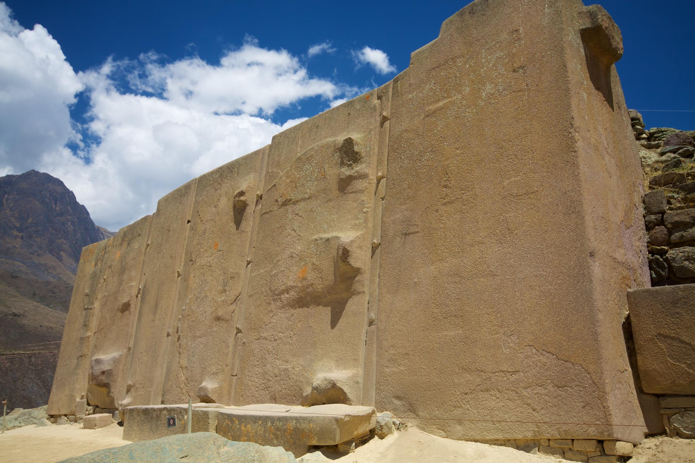 Wall of Six Monoliths in Ollantaytambo, Peru