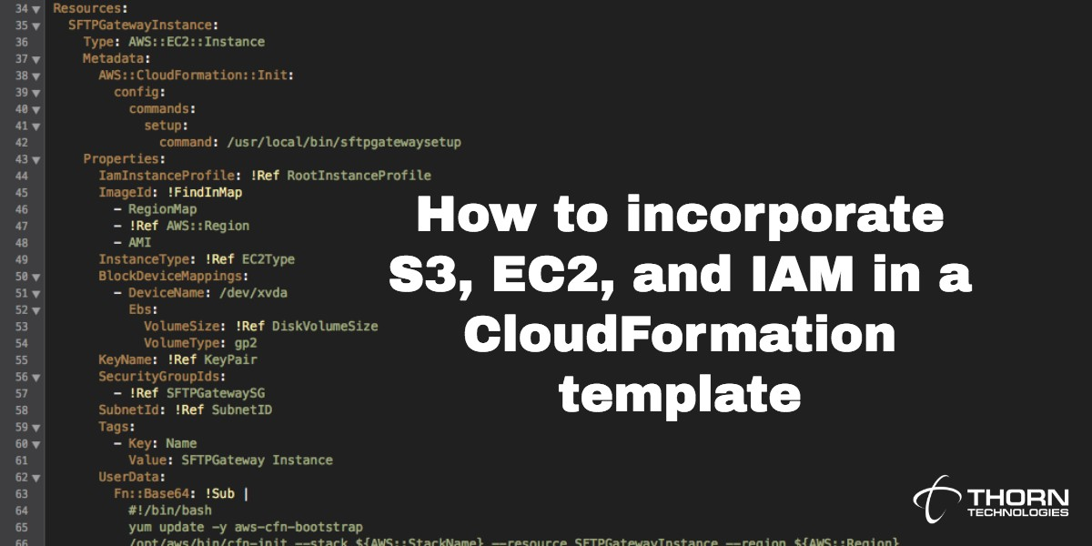 How to incorporate S3, EC2, and IAM in a CloudFormation template